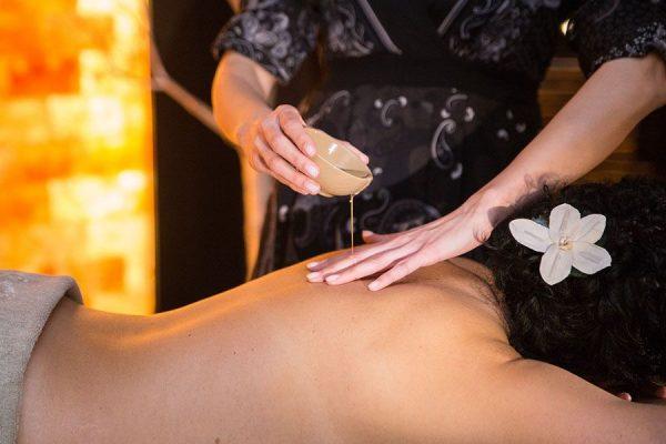massage huile tiede